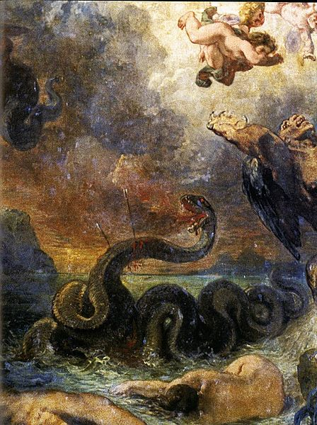 448px-Delacroix,_Eugène_-_Apollo_Slays_Python_(detail)_-_1850-1851